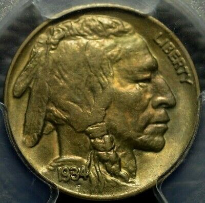 1934 Buffalo Nickel PCGS MS 64 ( Part of complete collection )