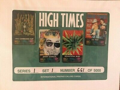 HIGH TIMES COLLECTIBLE CALLING CARDS ZZ TOP - JERRY GARCIA Series 1 Set 1 number