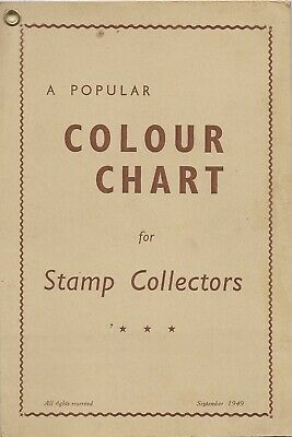 Colour Chart / FARBENFÜHRER, A popular Color Chart for Collectors 1949 England