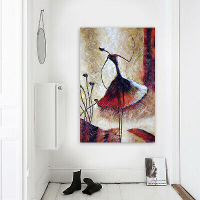 Abstract Hand Painted Oil Painting Modern Wall Art Home Decor Framed Dancer