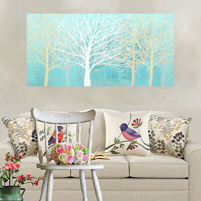 Hand Painted Modern Abstract Art Canvas Oil Painting Home Decor Framed Trees