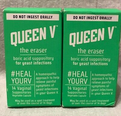 Queen V The Eraser 14 Vaginal Suppositories Two Pack 28