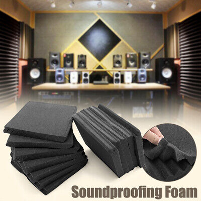 24 Pack Acoustic Foam Soundproofing Wall Tiles Panel Studio 12'' X 12'' X 1''