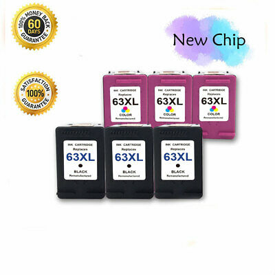 Lot #63 XL 63XL Ink Cartridge for HP OfficeJet 5258 5255 4655 4652 4650 3831