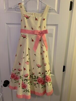 9fb14d981cd Bonnie Jean Size 10 Girls Dress, Sundress, EUC, Yellow with Pink Roses and