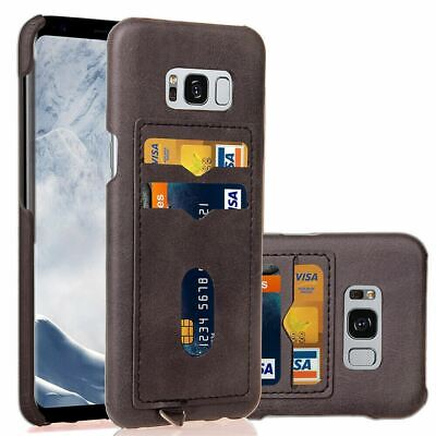 For Galaxy S10 S9 S8 Plus S7 Note9 8 Case Leather Slim Wallet Card Holder Cover