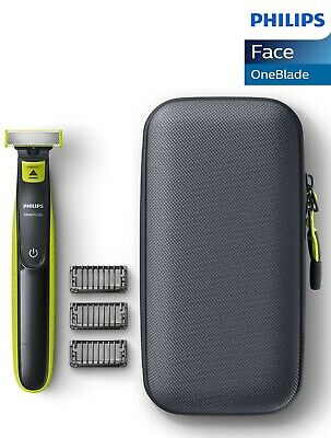 (END1/12) Philips OneBlade Wet & Dry Fast-Moving Cut Electric Shaver 3 Comb,Case