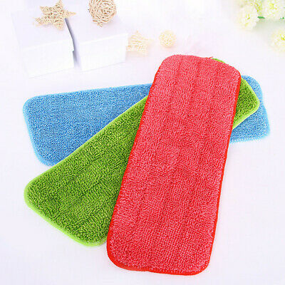 3Pcs Replacement Microfiber Washable Head Mop Pads Fit Flat Spray Mops