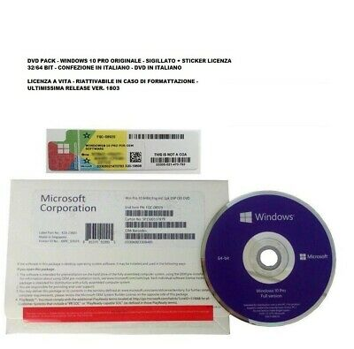 Fqc-08913 Licenza Windows 10 Professional Box Dvd Originale Windows 10 Pro