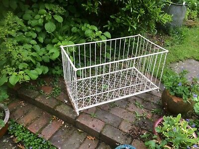 Rare Victorian Antique Wrought Iron Rocking Cot/Cradle Painted White