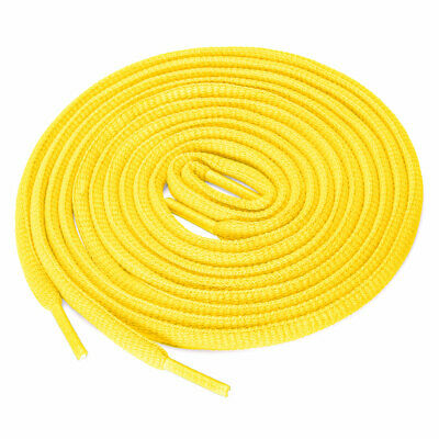 """2 Pairs Athletic Unisex Oval Half Round Shoelaces Sneakers Yellow 160 cm/63"""""""
