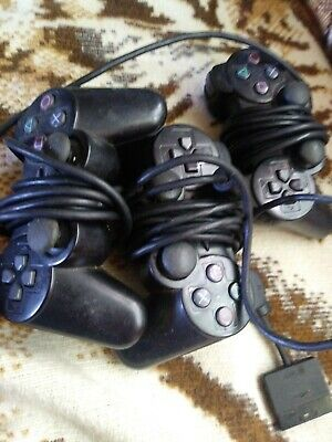 LOT OF 3 Sony Playstation 2 Dualshock 2 Controllers OEM Authentic PS2 video game
