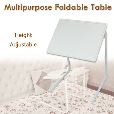 Foldable Table Adjustable Dinner Tray Portable Folding Laptop Desk TV Bed Mate