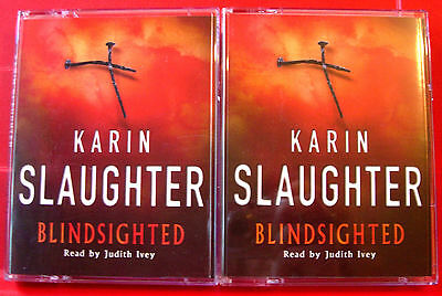 Karin Slaughter Blindsighted Grant County 4-Tape Audio Book Judith Ivey