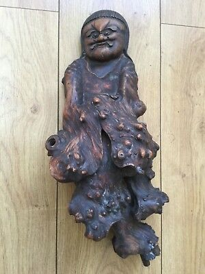 Rare Chinese root carving Antique wood carving country house look