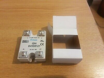 Crouzet  25A solid state relay GN84136121 3.5 to 32v DC in & switching 24-280VAC