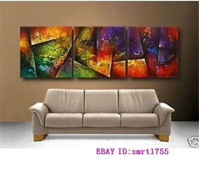 Modern Abstract hand-painted Art Oil Painting Wall Decor canvas  20X20X3 #172