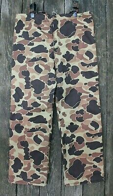 f33eb625c266a Vintage Fieldline Frogskin Duck Camo Thinsulate Gore Tex Hunting Pants M  USA 43