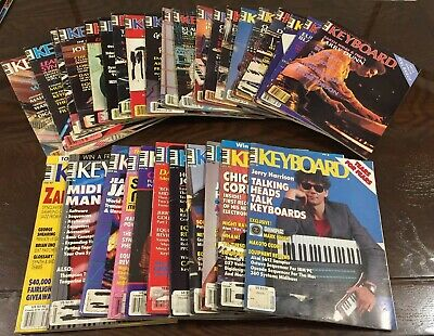Vintage Keyboard magazines from the 1980s  Lot of 31 issues (1981-1987)
