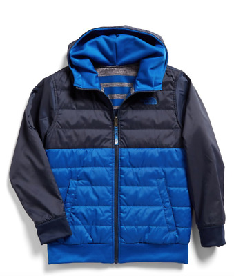 c1181a80203 THE NORTH FACE Boys' Reversible Quilted Surgent Hoodie TNF Black ...