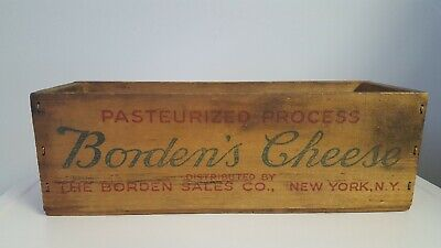 VINTAGE WOODEN CHEESE Box Windsor Club Pasteurized Cheese Food Two
