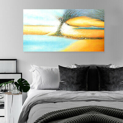 Modern Abstract Hand Painted Art Canvas Oil Painting Home Decor Framed - Aurora