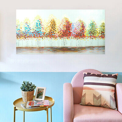 Abstract Hand Painted Oil Painting Stretched Canvas Wall Art Framed - Trees