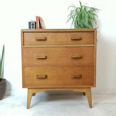 Vintage Mid Century E Gomme G Plan 3 Drawer Chest of Drawers