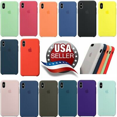 Original Genuine Silicone Case Back Cover for Apple iPhone X XR XS Max 7 8 Plus