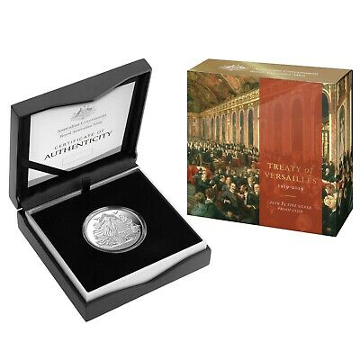 Australia 2019 Centenary of the Treaty of Versailles $5 Silver Proof Coin RAM