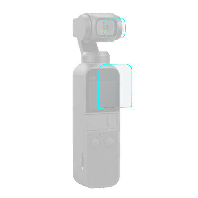 Puluz Hd Tempered Glass Lens Protector + Screen Film For -Dji Osmo Pocket Ca 2H2