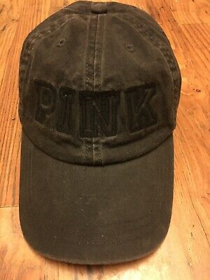 Victoria's Secret Pink Embroidered Logo Baseball Hat Cap Black