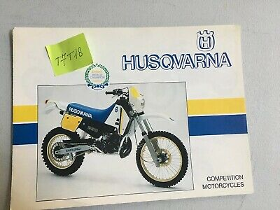 Husqvarna enduro WRK WR CR XC 240 250 400 430 prospectus catalogue brochure