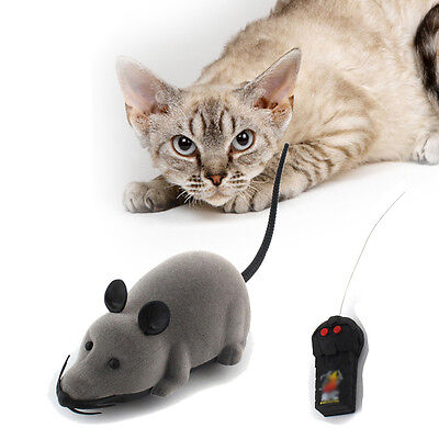 Wireless Remote Control RC Electronic Rat Mouse Mice Toy For Cat Puppy Gift New