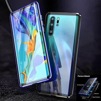 BOBYT For Huawei P30/P30 Pro Magnetic Metal+Curved Double Tempered Glass Case