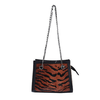 Female Leopard PU Leather Shoulder Bags Crossbody Bags Chain Messenger Bags 6A