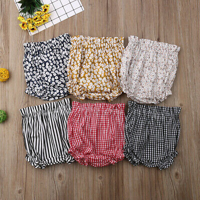 Toddler Kids Baby Boy Girls Bottoms Bloomer Shorts Diaper Cover Panties PP Pants
