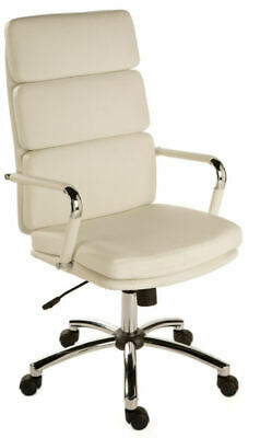 DECO White Executive High Back Retro Eames Style Office Swivel Computer Chair