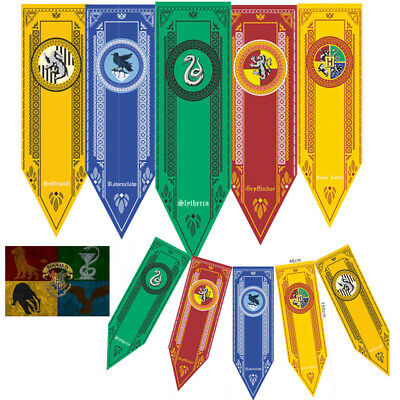 Harry Potter Banners Flag Gryffindor Slytherin Wall Hanging home Birthday Decor