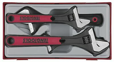 Teng TTADJ04 4 Pce Adjustable spanner/Wrench Set 6″, 8″, 10″ & 8″ Wide Jaw In...
