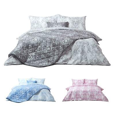 Reversible French Toile Pattern Duvet Cover Set Single, Double, King, Super King