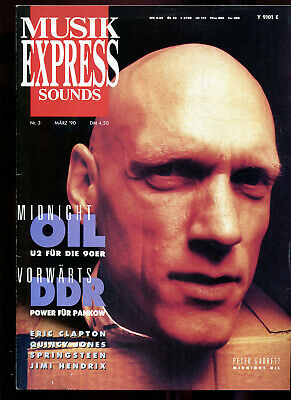 MUSIK EXPRESS Sounds  3  / 1990  :  Midnight Oil    Pankow   Eric Clapton