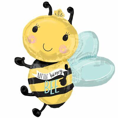 """SUPERSHAPE BABY WHAT WILL IT BEE ANIMAL HELIUM PARTY FOIL BALLOON 34/"""" 35159"""