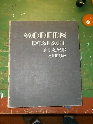 MODERN POSTAGE STAMP Album With Chock Full Of Stamps