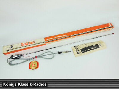 Hirschmann Auta 2150 aerial in chrome with red tip for VW + VW Beetle, 60s
