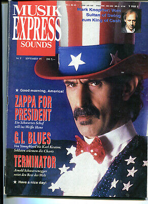 MUSIK EXPRESS Sounds  9 / 1991 :  Frank ZAPPA    Mark Knopfler