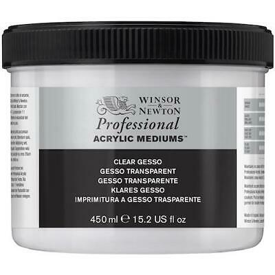 WINSOR & NEWTON PROFESSIONAL ARTISTS CLEAR GESSO 450ml