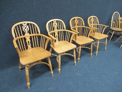 Reproduction Antique Victorian Windsor Farmhouse Chair Choice Of Matching 4