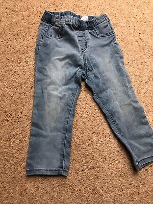 H&M Girls Jeans Size 12-18 Months used