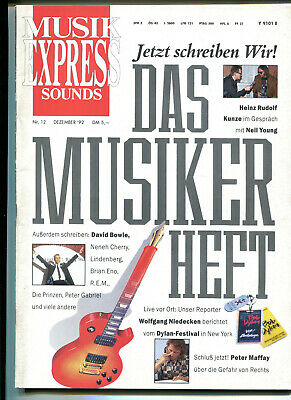 MUSIK EXPRESS Sounds  12 / 1992   :  NEIL YOUNG   David Bowie   Peter Maffay